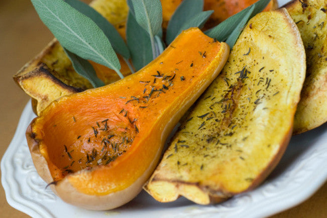 Honey Roasted Squash with Rosemary