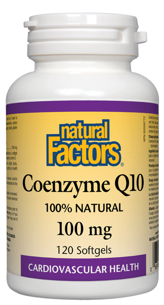 Natural Factors - Co Q-10 100mg / E, 120 softgels - Goodness Me!