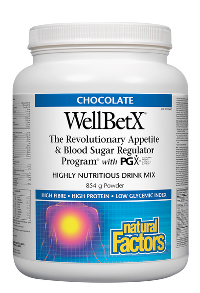 Natural Factors - WellBetX® PGX® Weight Management Shake - Chocolate, 854g - Goodness Me! - 1