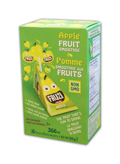 Fruzi - Fruit Smoothie, Apple, 6 x 65g