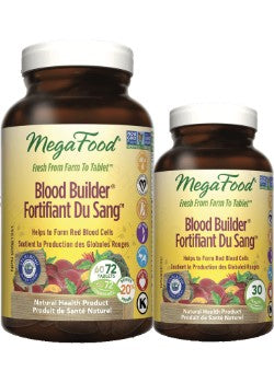 Mega Food - Blood Builder, Bonus Bottle, 72 +30 Tablets