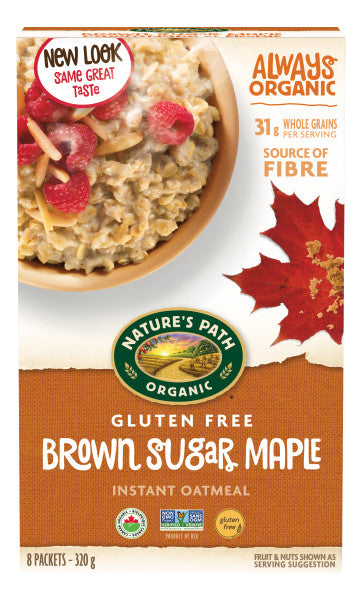 Nature's Path - Gluten-Free Brown Sugar Maple Oatmeal, 320g