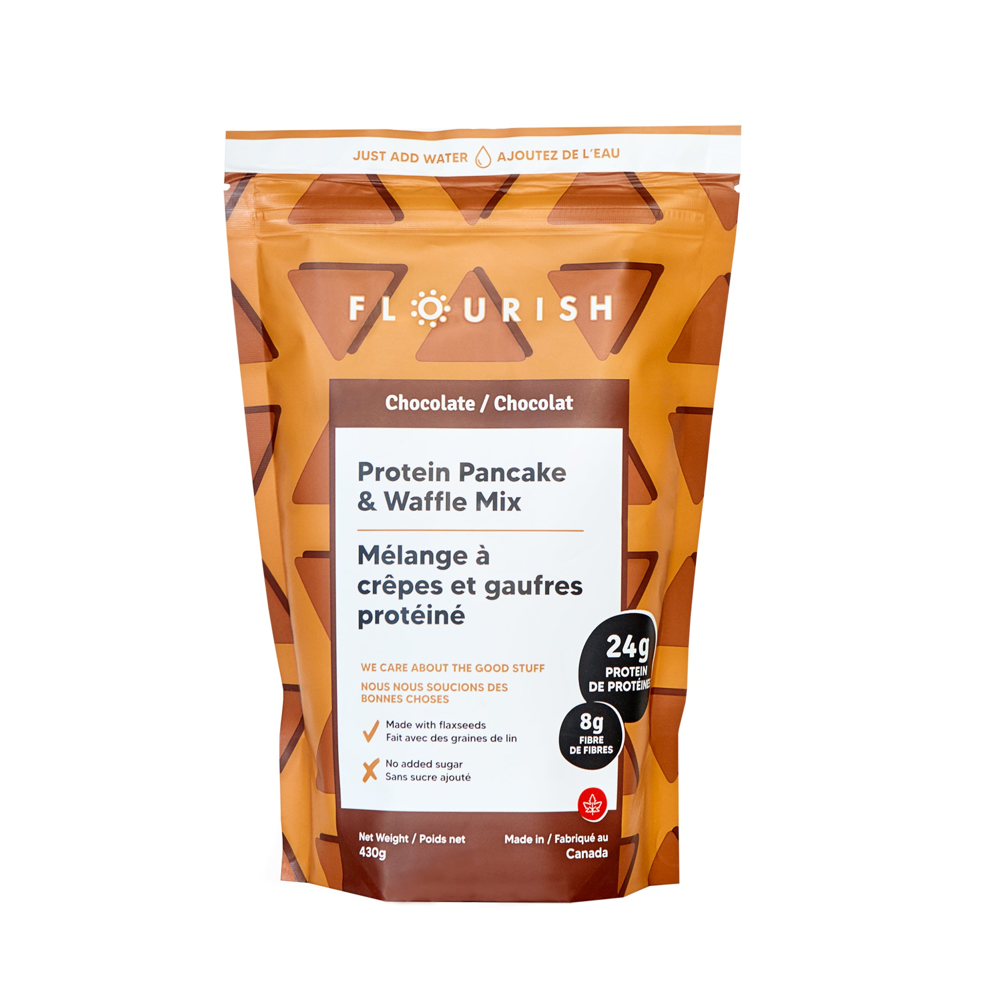Flourish - Chocolate Protein Pancake Mix, 430g