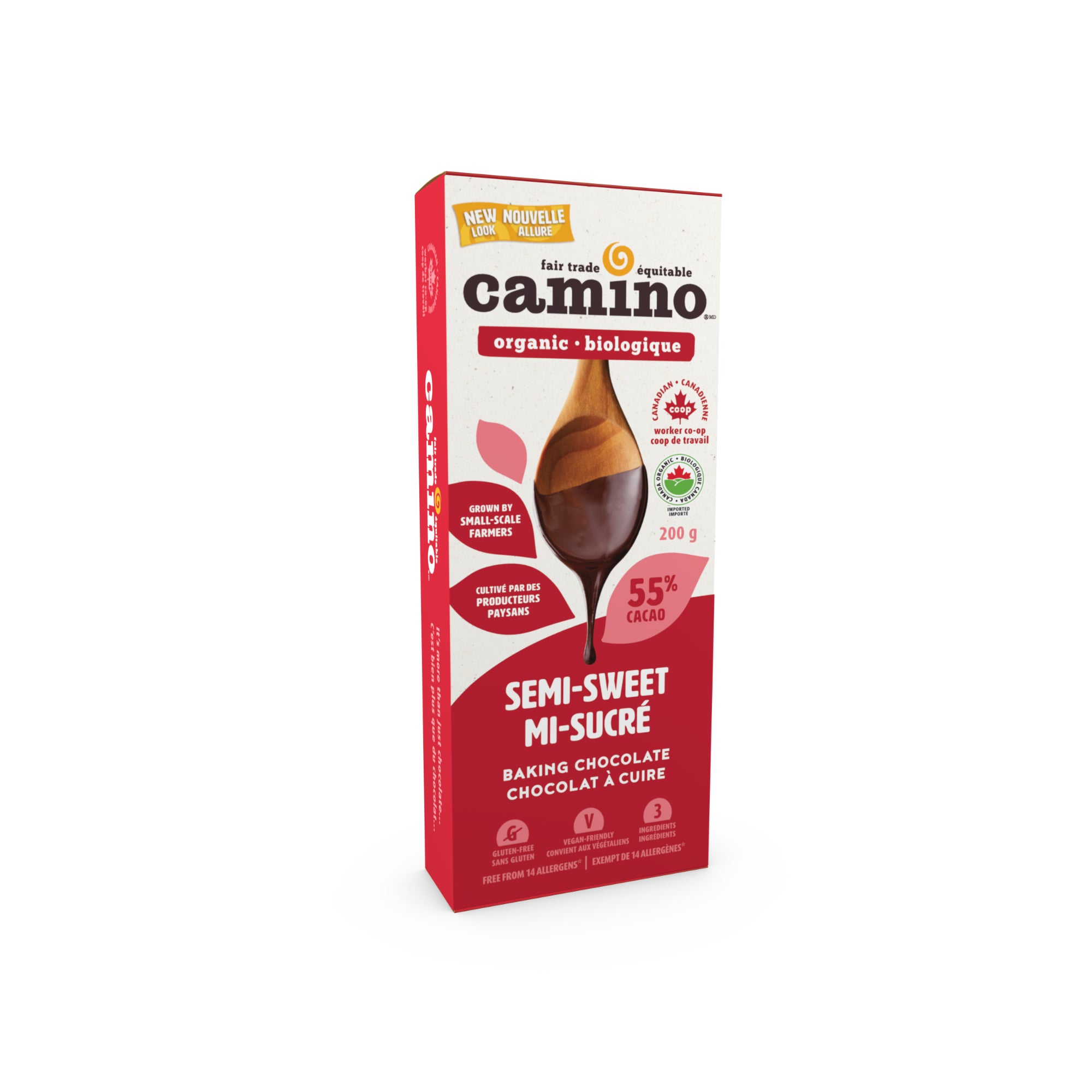 Camino - Baking Chocolate, 55% Semi-sweet, 200g