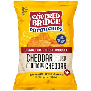 Covered Bridge  - Cheddar Cheese, Crinkle Cut, 170g