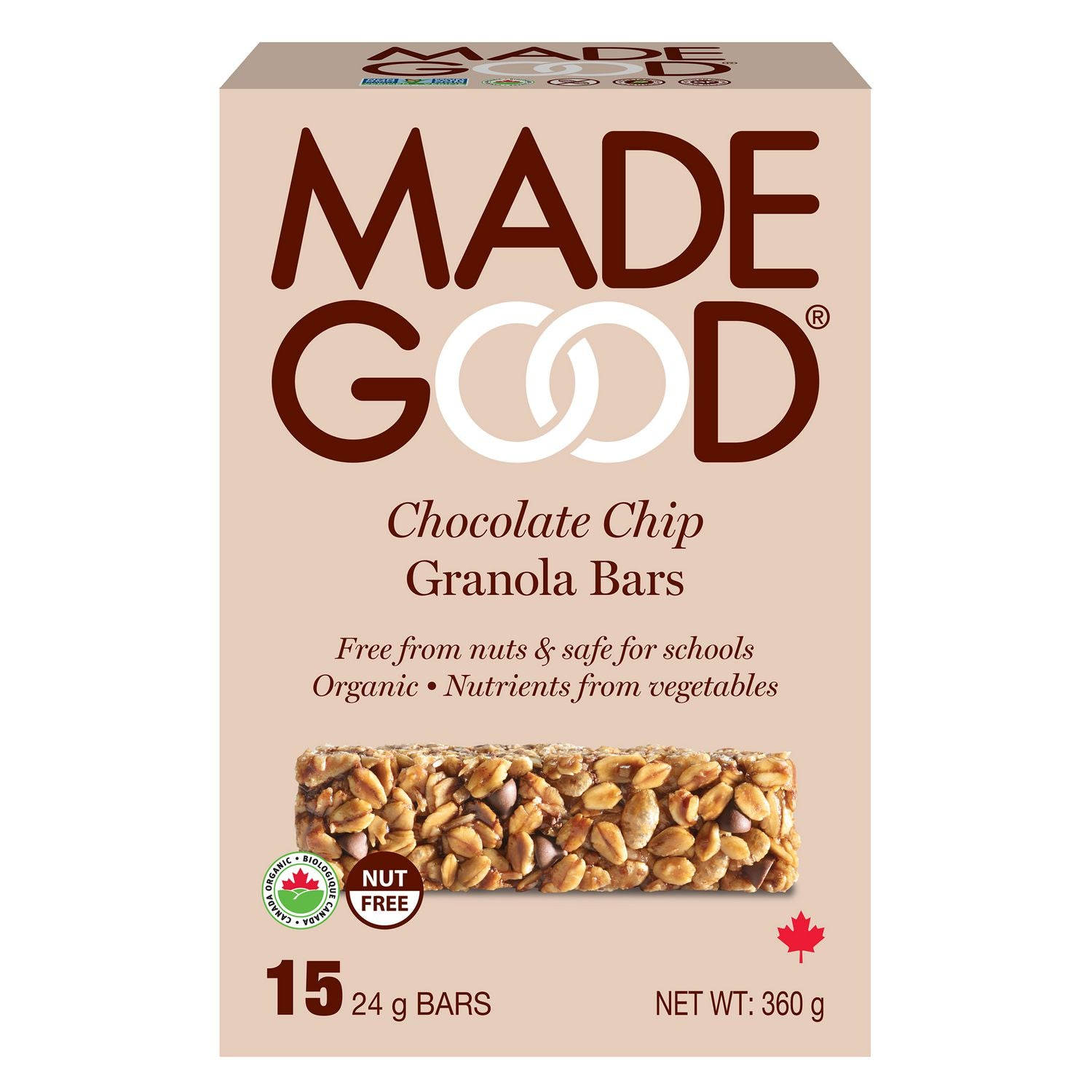 Made Good - Chocolate Chip Granola Bars, 15 x 24g