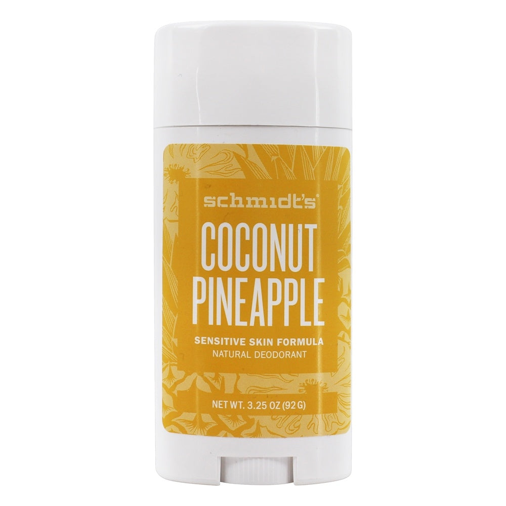 Schmidt's Deodorant - Deodorant Stick, Coconut Pineapple, Sensitive Skin, 92g