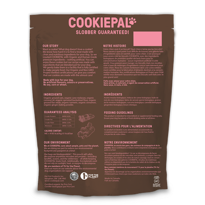 CookiePal - Organic Dog Treats, Turmeric & Ginger, 300g