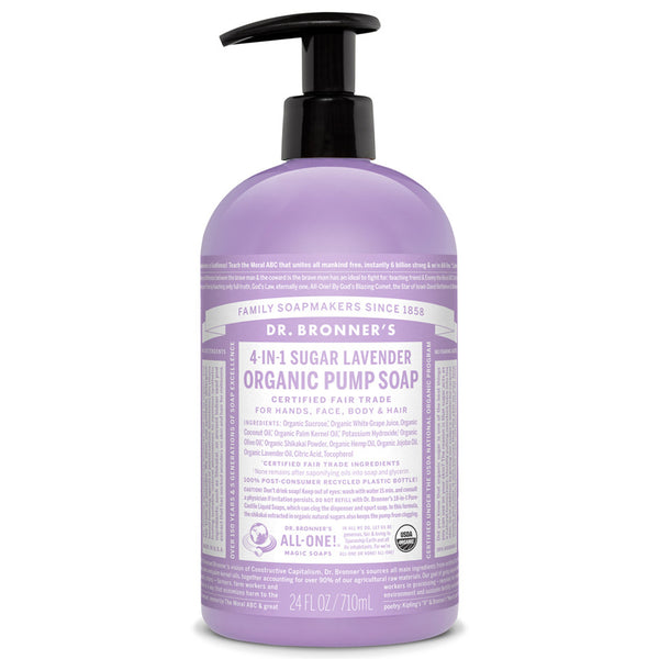Dr. Bronner's - Pump Soap - Lavender, 710ml - Goodness Me!