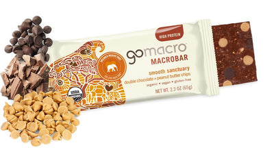 Go Macro Bars - Double Chocolate + Peanut Butter Chips, 65g