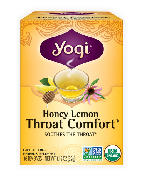 Yogi -  Honey Lemon Throat Comfort, 16ct - Goodness Me! - 1