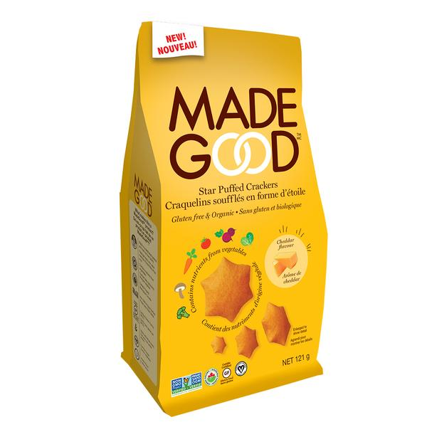 Made Good - Organic Star Puffed Crackers, Cheddar, 121g