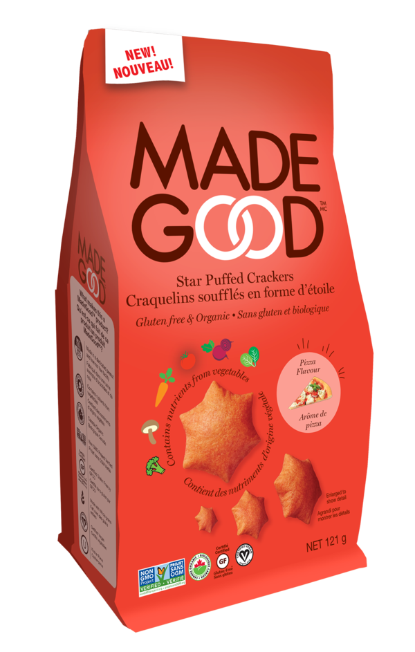 Made Good - Organic Star Puffed Crackers, Pizza, 120g