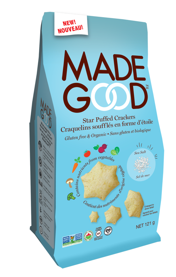 Made Good - Organic Star Puffed Crackers, Sea Salt, 120g