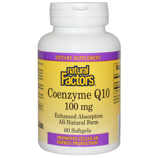 Natural Factors - Coenzyme Q10 - 100 mg, 60 softgels - Goodness Me!