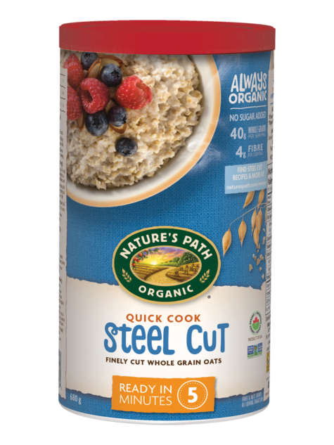 Nature's Path - Quick Cooking Organic Steel Cut Oats Hot Cereal, 510g