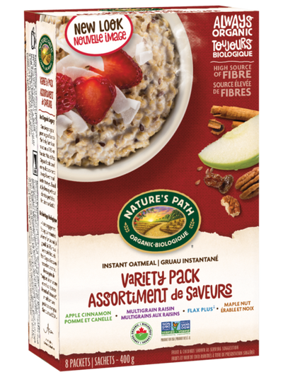 Nature's Path - Oatmeal, Variety Pack, 8 x 50g