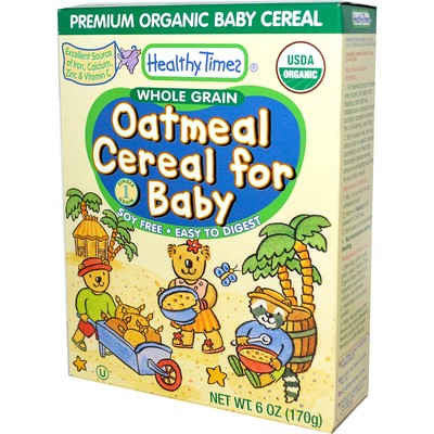 Healthy Times - Organic Oatmeal Baby Cereal, 227g - Goodness Me!