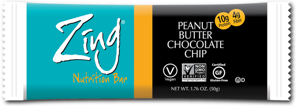 Zing - Peanut Butter Chocolate Chip, 50g - Goodness Me!