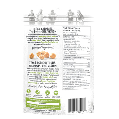 Three Farmers - Roasted Chickpeas Sea Salt & Lime, 120g