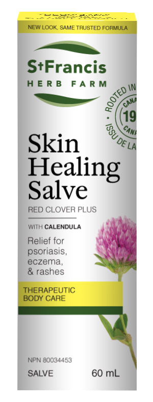 St. Francis - Skin Healing Salve - 60ml (formerly Red Clover Plus Salve)