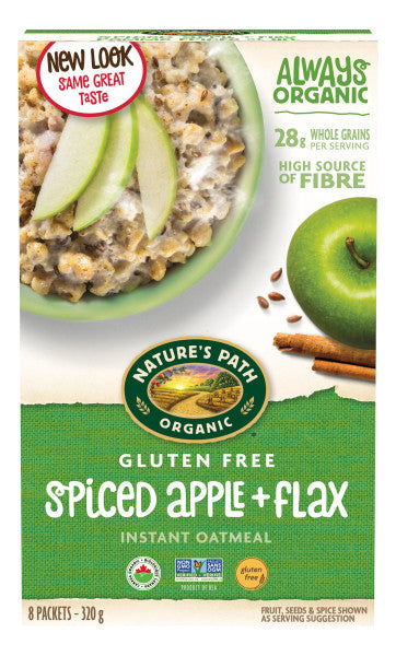 Nature's Path - Gluten Free Spiced Apple + Flax Oatmeal, 320g