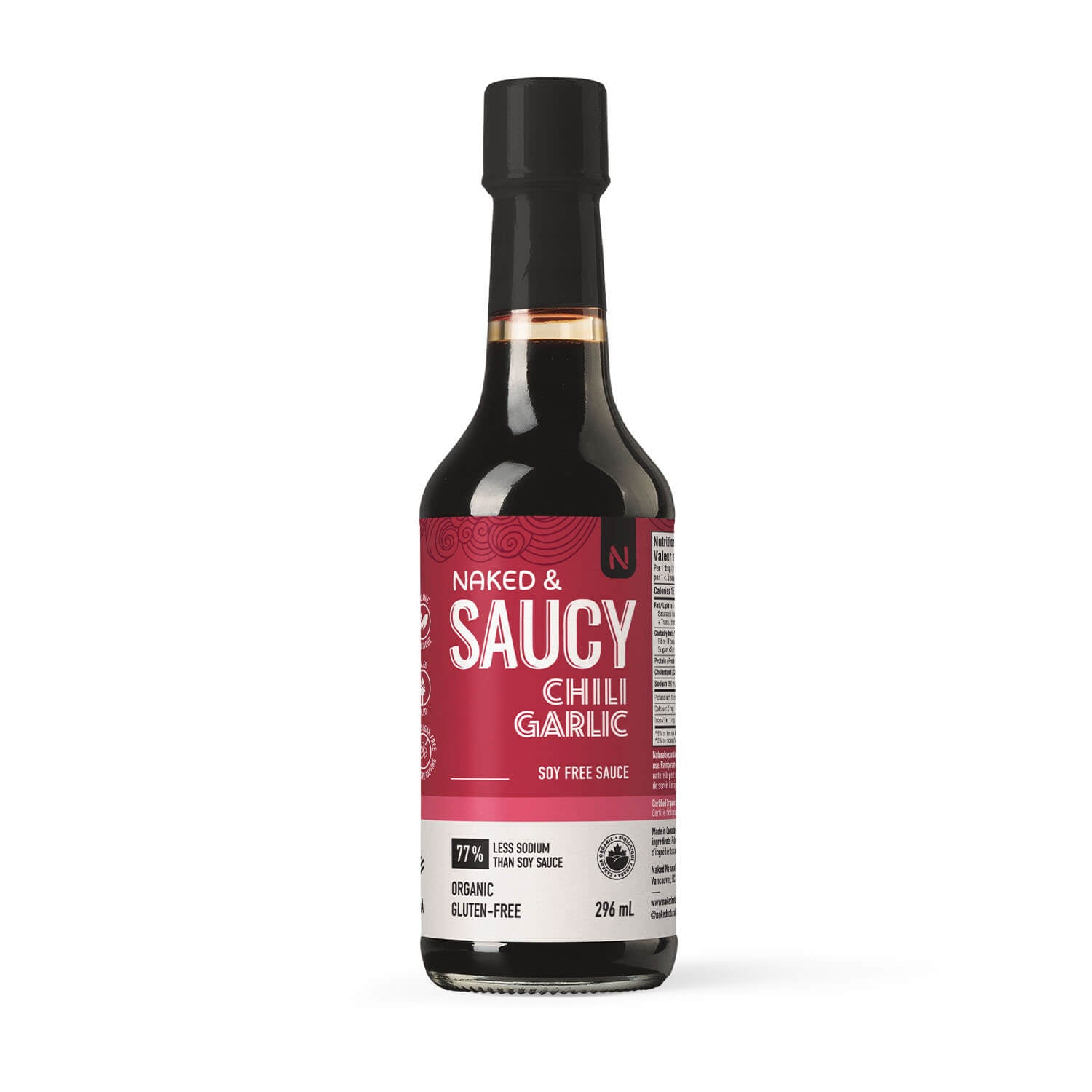 Naked and Saucy - Teriyaki Sauce, Chili Garlic, 296 ml