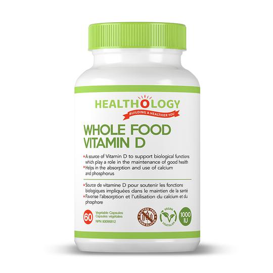 Healthology - Whole Food Vitamin D, 60vcaps