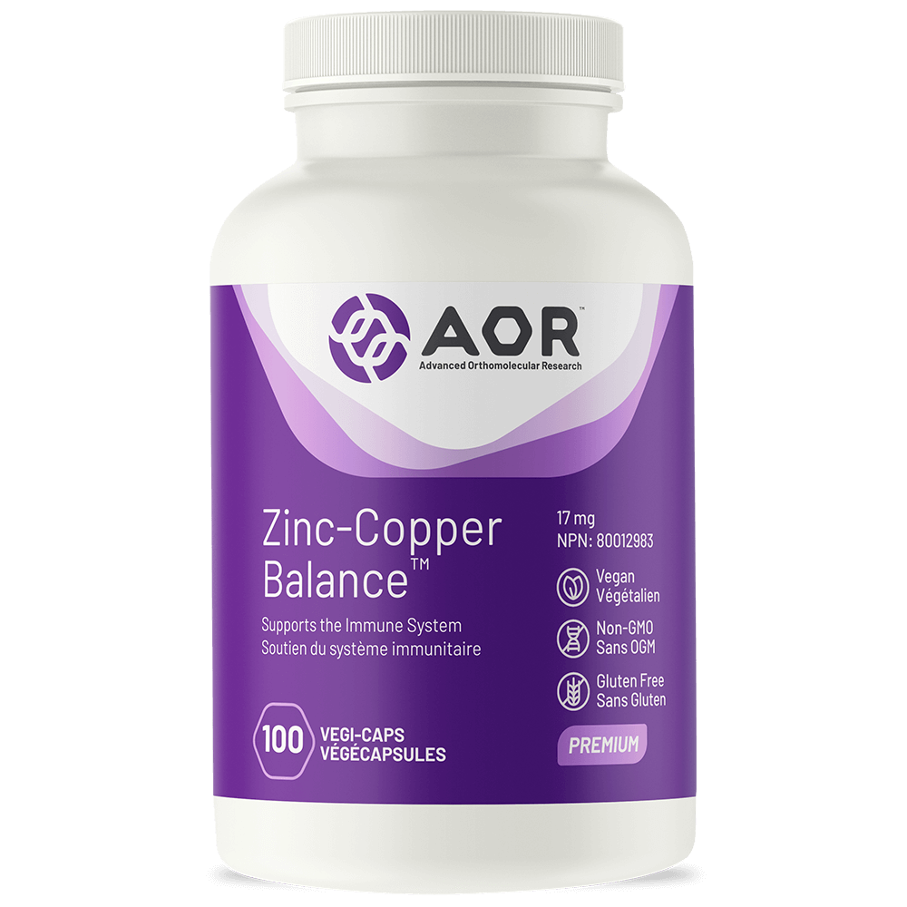 AOR - Zinc-Copper Balance, 100 caps