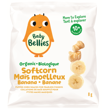 Every Bite Counts - Baby Bellies, Banana Soft Corn, 8g