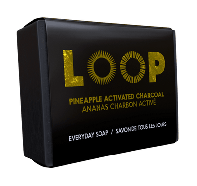LOOP - Bar Soap, Pineapple Activated Charcoal, 100g