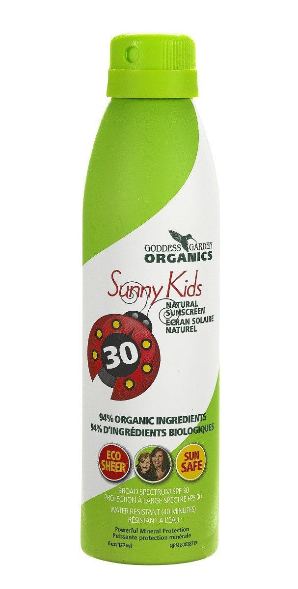 Baby & Kids,Gluten Free,Vegan,Organic,Non GMO - Goddess Garden - Kids Natural  Continuous Spray Sunscreen SPF30, 117ml