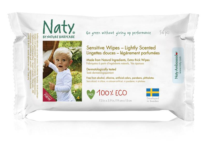 Baby & Kids - Nature Babycare - Sensitive Lightly Scented Wipes, 70 Count
