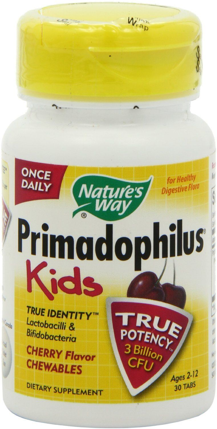 Baby & Kids - Nature's Way - Primadophilus Kids - Cherry, 30 Tablets