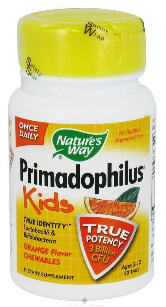 Baby & Kids - Nature's Way - Primadophilus Kids Orange, 30 Chewable Tablets