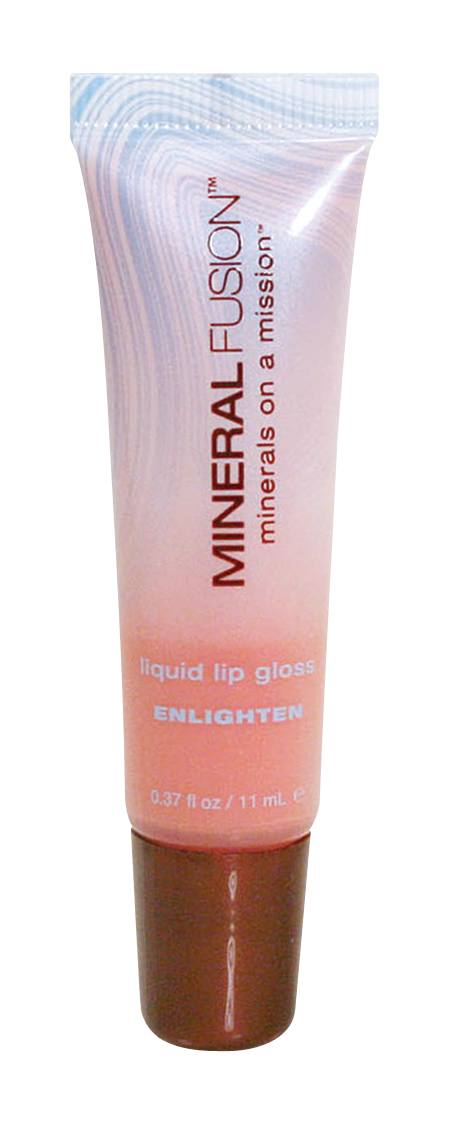 Beauty & Skin Care,Food & Drink - Mineral Fusion - Liquid Lip Gloss -Enlighten (Peachy Pink), 11ml