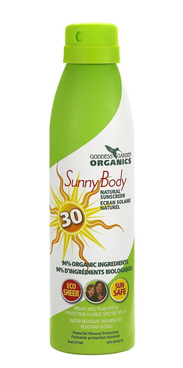 Beauty & Skin Care,Gluten Free,Vegan,Organic,Non GMO - Goddess Garden - Natural Continuous Spray Sunscreen SPF30, 177 Ml
