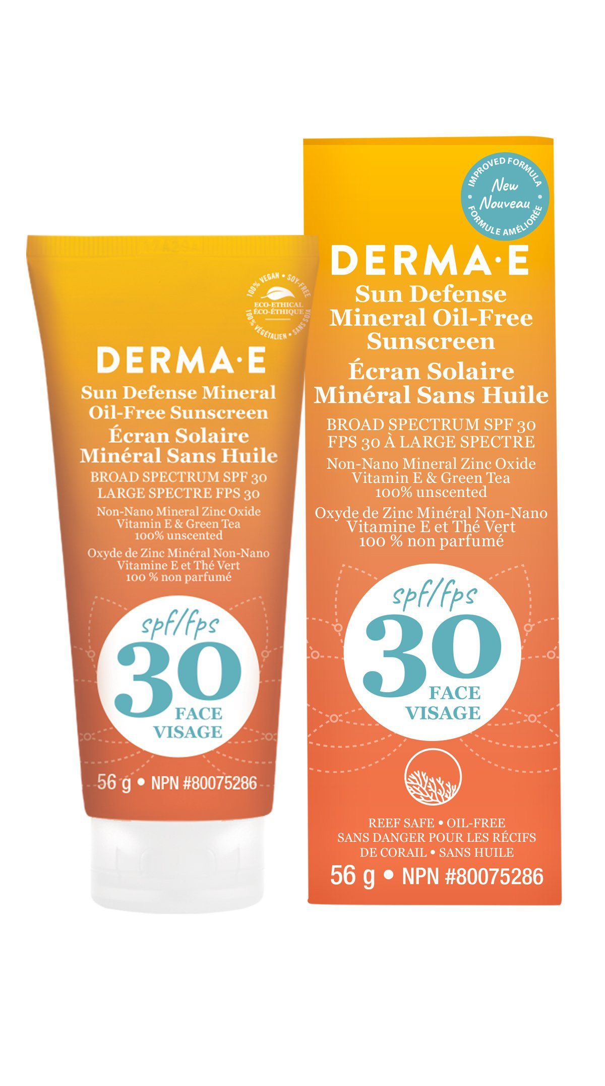Beauty & Skin Care,Gluten Free,Vegan,Vegetarian,Non GMO - Derma E - Antioxidant Natural Sunscreen SPF 30 Oil-Free Face Lotion, 56g