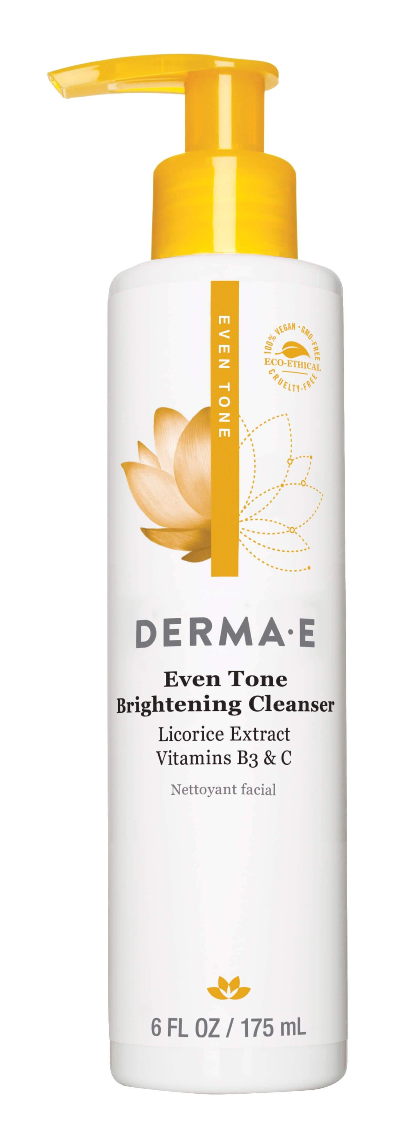Beauty & Skin Care,Gluten Free,Vegan,Vegetarian,Non GMO - Derma E - Even Tone Brightening Cleanser, 175ml