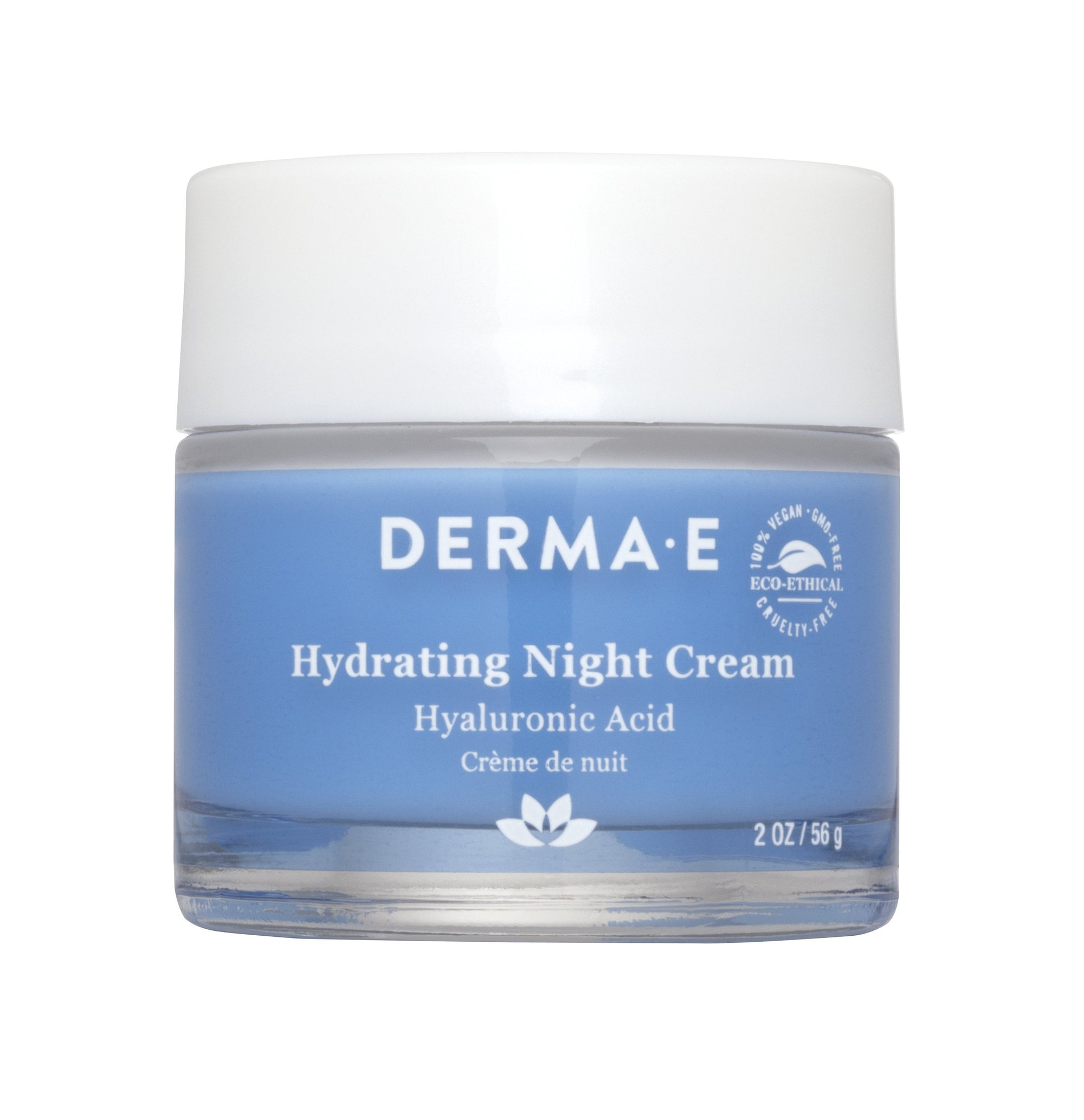 Beauty & Skin Care,Gluten Free,Vegan,Vegetarian,Non GMO - Derma E - Hydrating Night Crème With Hyaluronic Acid