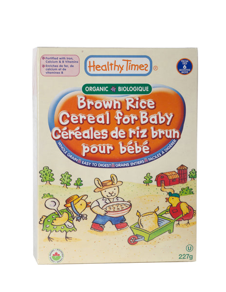 Healthy Times - Organic Brown Rice Baby Cereal, 227g - Goodness Me! - 1