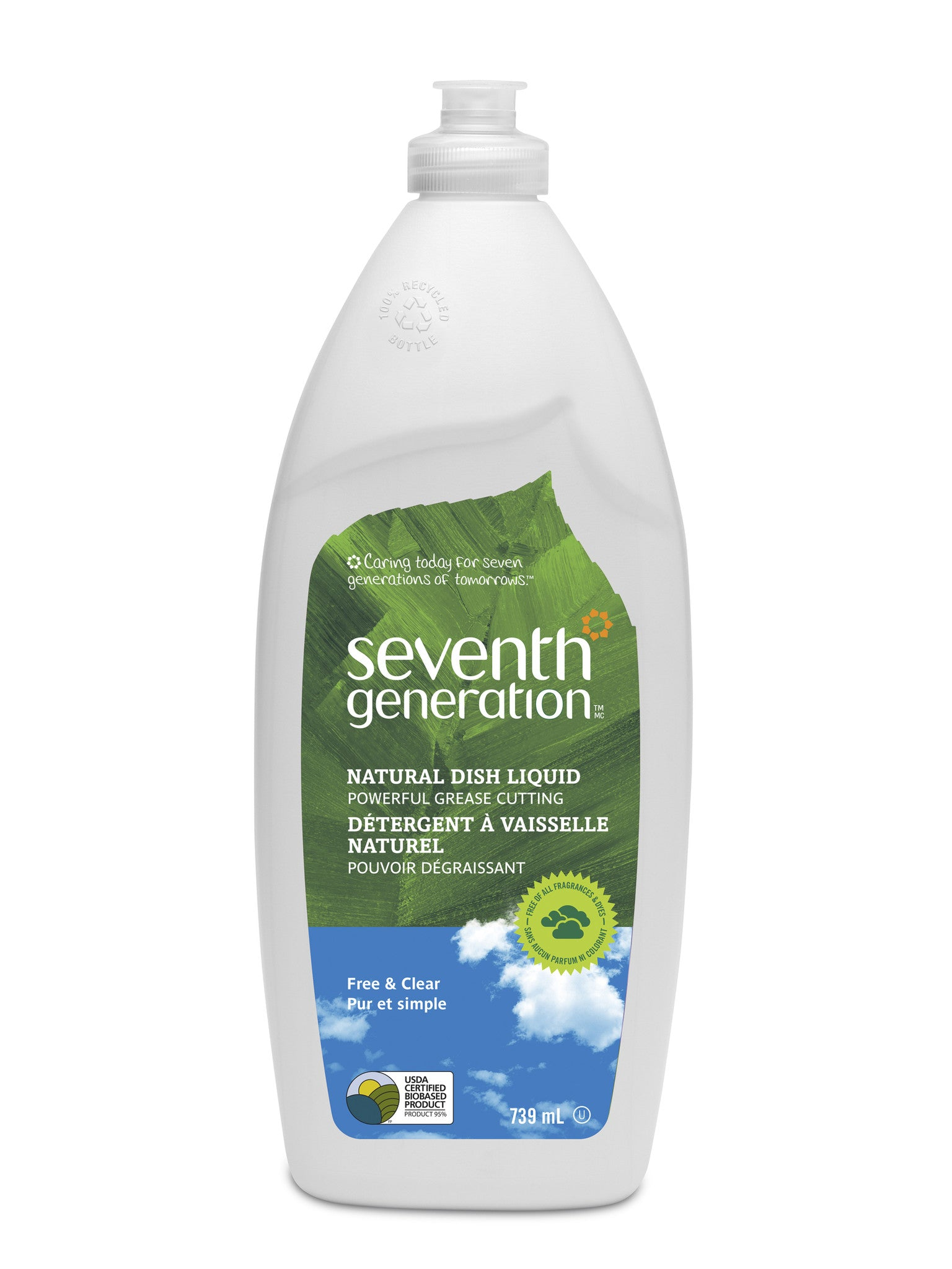 Seventh Generation - Free and Clear Dish Liquid, 739ml