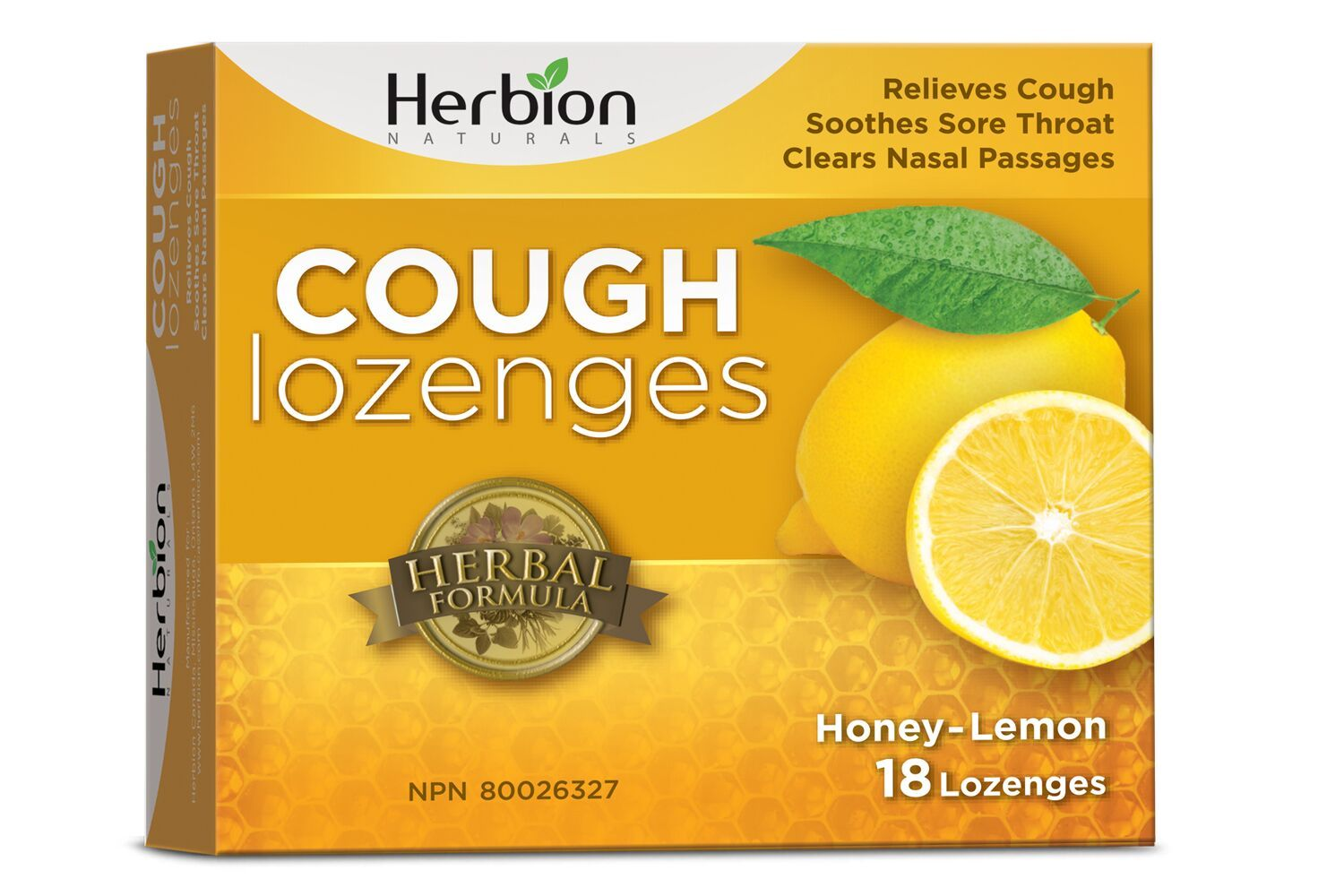 Featured,Supplements & Vitamins - Herbion - Cough Lozenges - Honey Lemon, 18 Lozenges