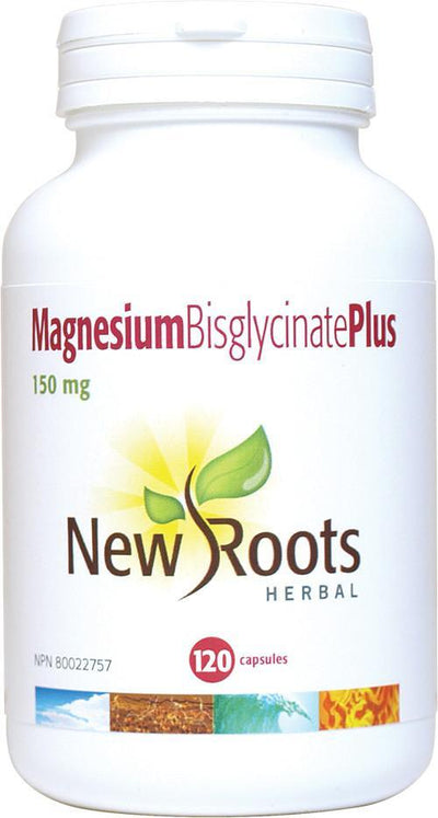 Fitness & Nutrition > Vitamins & Supplements - New Roots Herbal - Magnesium Bisglycinate Plus - 150mg - 120 Capsules