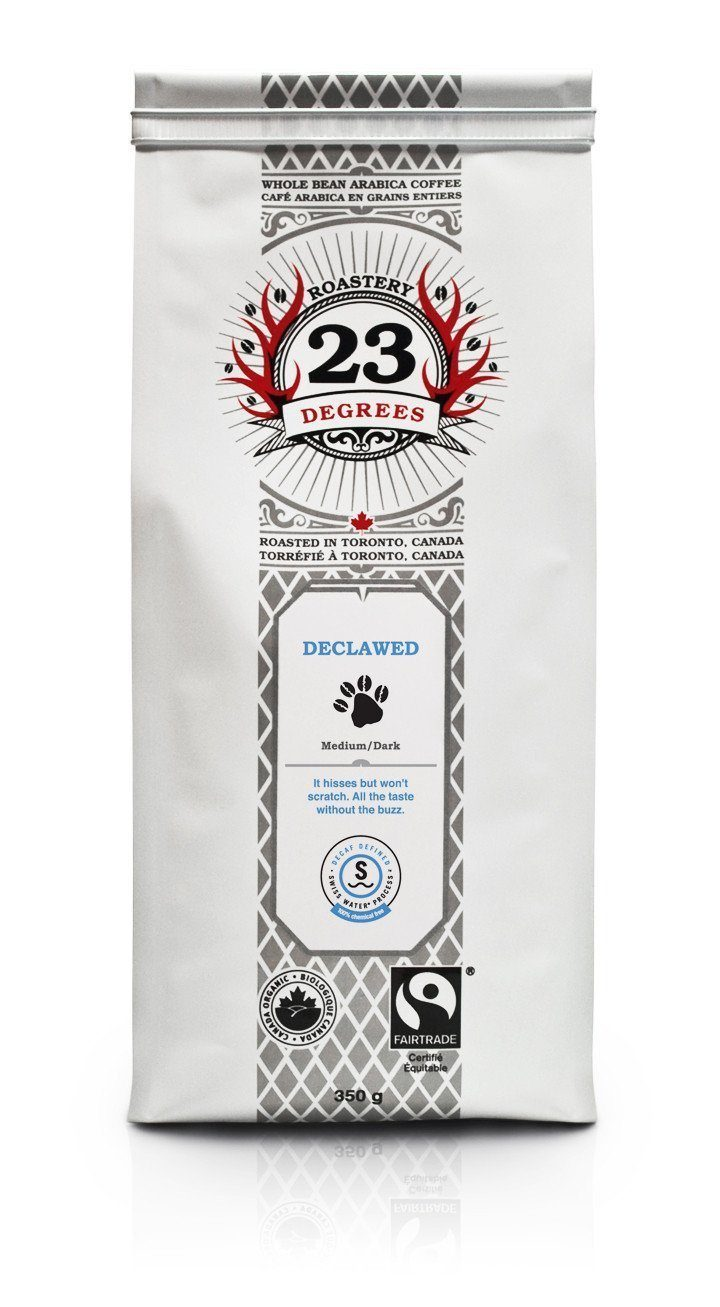 Food & Drink - 23 Degrees - Declawed Decaf Coffee, 350g