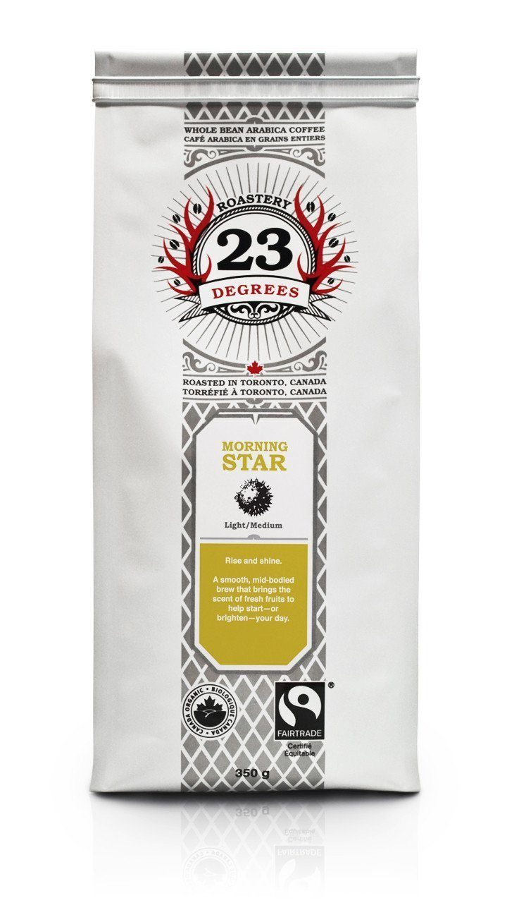 Food & Drink - 23 Degrees - Morning Star Light/Medium Coffee, 350g