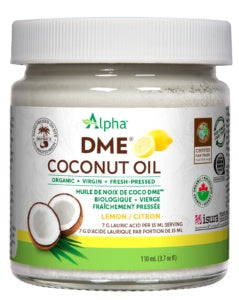 Food & Drink - Alpha Health - Lemon DME Coconut Oil, 110ml