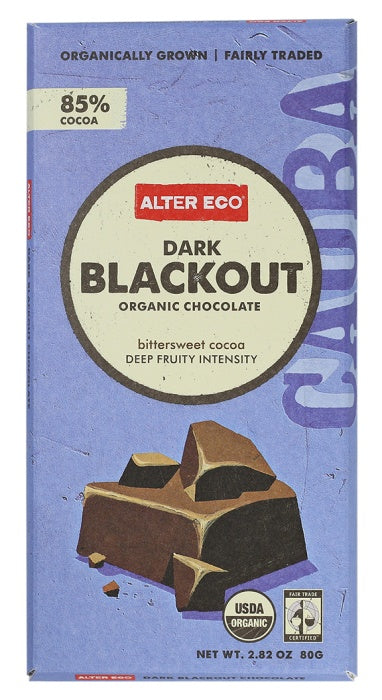 Food & Drink - Alter Eco - Dark Blackout Chocolate Bar, 80g