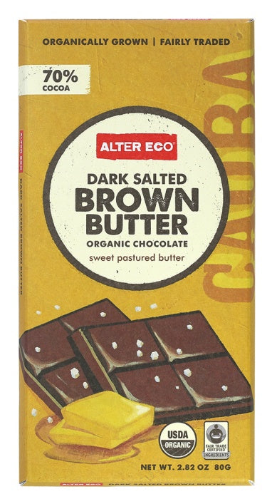 Food & Drink - Alter Eco - Salted Brown Butter Chocolate, 80g