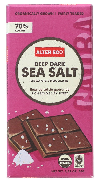Food & Drink - Alter Eco - Sea Salt Chocolate, 80g